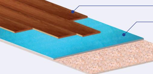 sottofondo pavimenti laminati polirex