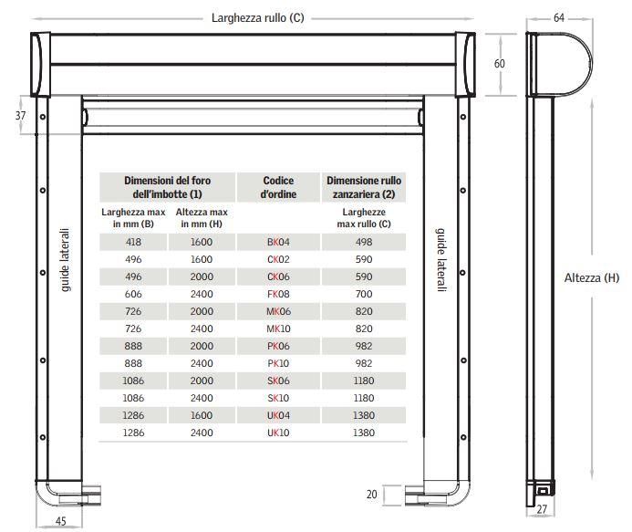 Zanzariere per finestre da tetto velux compra online for Velux finestre per tetti dimensioni
