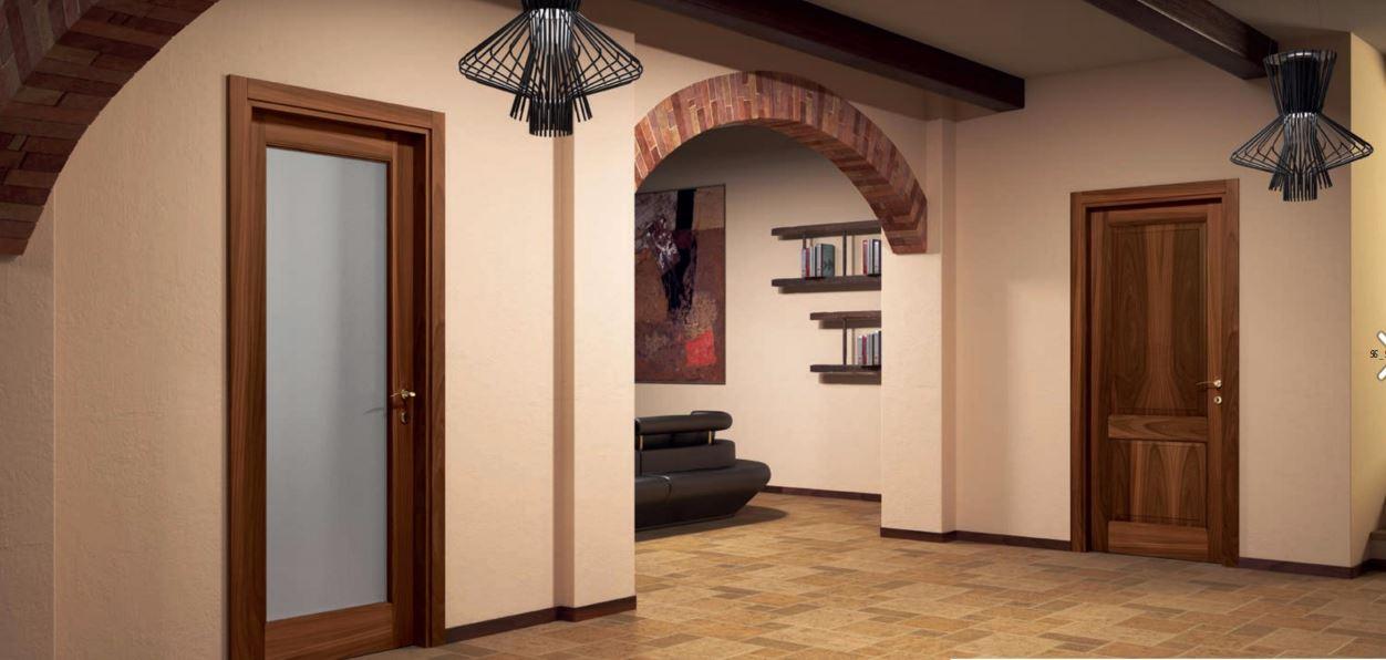 Porta Flessya modello Plenia con anta a vetro